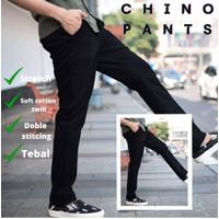 Celana Chino Chinos Cino Cinos Pants Panjang Pria Original Hitam Cowok