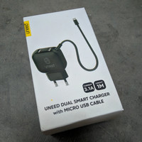 Uneed UCH122 dual smart travel charger with micro usb 3.1A - New Ori