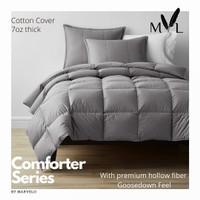 Marvelo Bed Cover Set Abu-abu 200x200 cm Super King size Katun Silikon