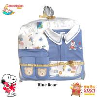 BAJU BAYI JUMPER BABY BOY GIFT SET 0-3 MONTH - Blue BEAR