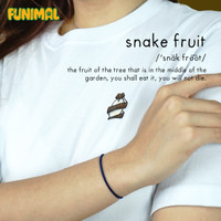 #08 T-Shirt Funimal: Snake Fruit Kaos Unisex Cotton Combed 30s - S