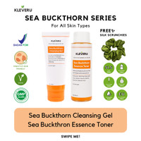 KLEVERU Sea Buckthorn Series – Cleansing Gel dan Essence Toner