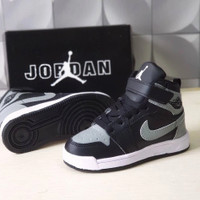 Sepatu Anak Anak Nike Air Jordan Abu Hitam 24-35