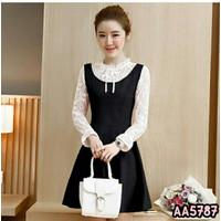 Fashion Baju Atasan Dress Casual Wanita Casual Korea Twistcone Brukat