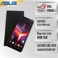 ASUS ROG PHONE 2 SECOND LIKE NEW 8/128 GARANSI RESMI TAM INDONESIA