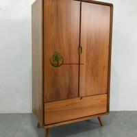 lemari pakaian katu jati anak wanita 2 pintu vintage furniture jepara