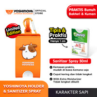 Yoshinoya Holder dengan Karakter Sapi dan Nuvo Hand Sanitizer 50ml