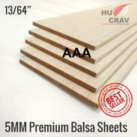 Balsa sheet tebal 5mm 10cmx100cm (5x100x1000mm) murah. kayu maket