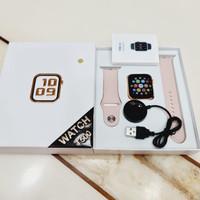 SMARTWATCH Fundo Pro Watch Telepon Model Apple Watch 5 T500 Iwo 10 - Pink