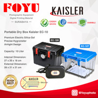 Dry Box Plastik Kering Kamera Silica Gel Elektrik 10 L Kaisler EC-10