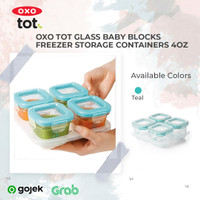 OXO Tot Glass Baby Blocks 4oz - Teal