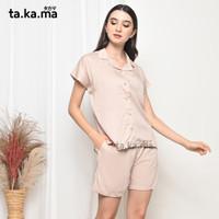 TAKAMA Momo Pyjamas - Baju Tidur Piyama Busui Menyusui Katun Rayon 01 - all size