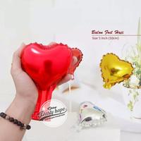 balon foil love MINI MERAH / balon hati / balon foil hati mini 10 cm