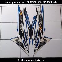 striping sticker lis body honda supra x 125 fi new thn 2014 hitam biru