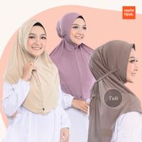Hijab Jilbab Bergo Instan Daily Maryam Jersey Tali Kriwil Pad Antem