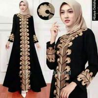 Abaya Arab Hitam / Gamis Turkey Bordir / Drees Wanita / Baju Muslimah