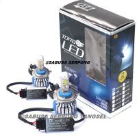 Bohlam Depan Lampu Utama LED Headlight Mobil Turbo T1 H4 Hi Low Putih