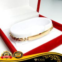 Gelang Titanium Asli Emas Wanita Rantai Gold