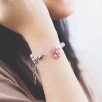 Perhiasan Gelang Swarovski - Rosette Rose Bracelet by AR Hestia