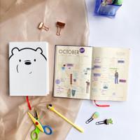 Notebook Agenda Journal;, Polos dan Dotted Ice Bear We Bare Bear