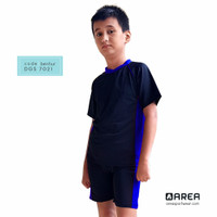 Baju Renang Anak Laki-laki Anak SD Usia 6 - 10 tahun Setelan - Biru, M