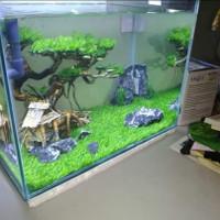 Rumput Sintetis Premium 1x1 M Dekorasi Aquarium Dan Aquascape Besar