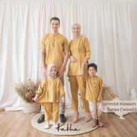 Kakha - Sarimbit Keluarga Kareem (Mustard) / Baju Couple Keluarga