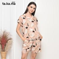 TAKAMA Momo Pyjamas - Baju Tidur Piyama Busui Menyusui Katun Rayon 06 - all size