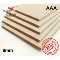 Balsa Sheet Tebal 8mm 10cmx100cm (8x100x1000mm) Murah & Kayu Maket