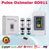 Fingertip Oximeter Pulse Alat Pengukur Kadar Oksigen Detak Jantung