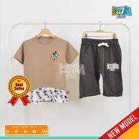 Special Price Kovka 2 Setel Pakaian Kaos Dan Celana Pendek Anak Cowok - MICKEY, 2
