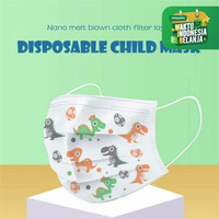 Masker Anak 3ply Kids Child Mask Motif Earloop 1 Box Isi 50 Pcs