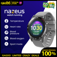 Smartwatch Pria - NAZEUS Running   Thermometer & Health Monitoring