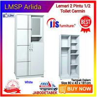 Lemari Pakaian 2 Pintu Cermin 1/2 Toilet LMSP Arlida Series