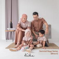 Kakha - Sarimbit Keluarga Raya (Brown)/ Baju Couple Keluarga Muslim