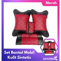 Set Bantal Mobil 3 in 1 - Merah