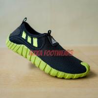 sepatu anak sepatu adidas japaw anak sepatu sneakers anak - hitam lis hijau, 31