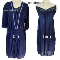 kimono lingerie sexy baju tidur dewasa wanita dress piyama