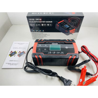 Pulse Repair Battery Charger 12V/24V 8A - Alat Cas Aki Motor Mobil LCD