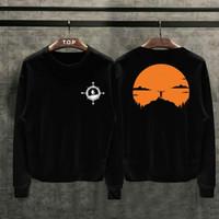 T-shirt Hiking Lengan Panjang / Baju Kaos Distro Pria Cotton 30s