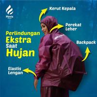 Jas Hujan Pria Wanita Mantel Raincoat Setelan Baju Celana Original