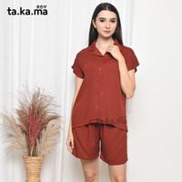TAKAMA Momo Pyjamas - Baju Tidur Piyama Busui Menyusui Katun Rayon 02 - all size