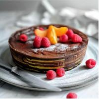 harum cake lapis coklat belang - Harum cake lapis chocolate belang
