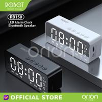 ROBOT Speaker Bluetooth RB150 LED Alarm Clock FM Radio Speker Wireless