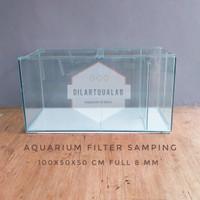 Aquarium Filter Samping 100x50x50 cm Full 8 mm Custom Pre Order