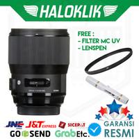 Sigma 135mm f/1.8 DG HSM Art with Filter MC UV + Lenspen