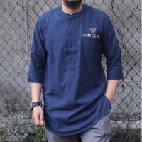 Kurta pakistan / fashion muslim pria / baju koko pria / kemko pria - Biru, M