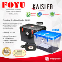 Dry Box Plastik Kering Kamera Silica Gel Elektrik 25 L Kaisler EC-25