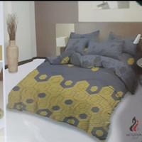 bed cover set sprei rumbai 180x200 lady rose motif Michelle