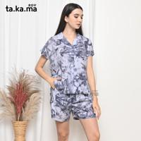 TAKAMA Momo Pyjamas - Baju Tidur Piyama Busui Menyusui Katun Rayon 05 - all size